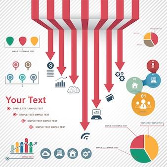 Infografía establece ilustración