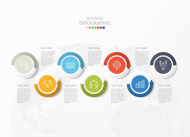 Infografía estándar para concepto de negocio e iconos.