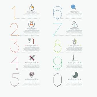 Infografía en estilo de línea fina