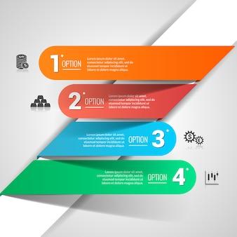 Infografía financiera de dinero