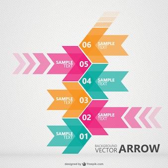 Infografía con flechas coloridas