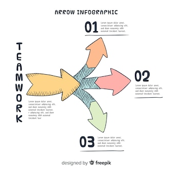 Infografía con flechas