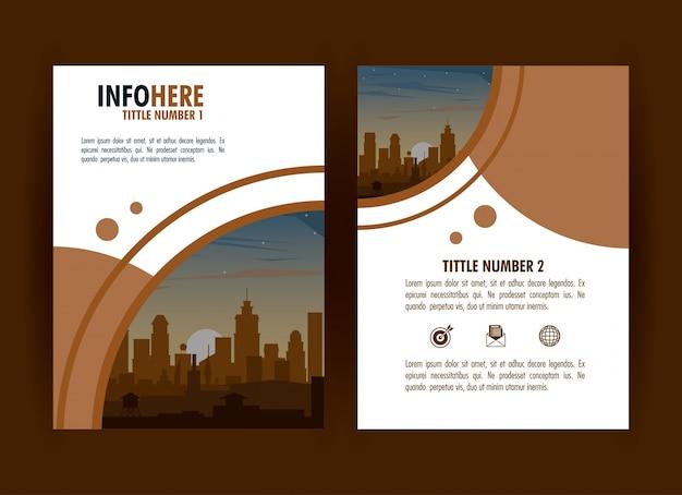 Infografía de folleto de la ciudad