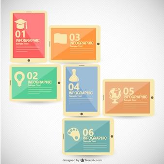 Infografía con forma de tablets