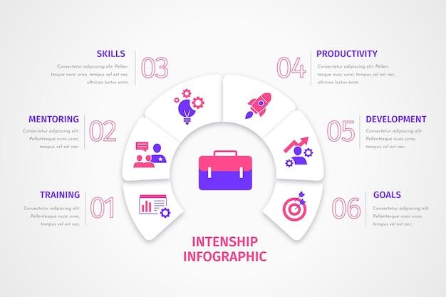 Infografía de formación en prácticas