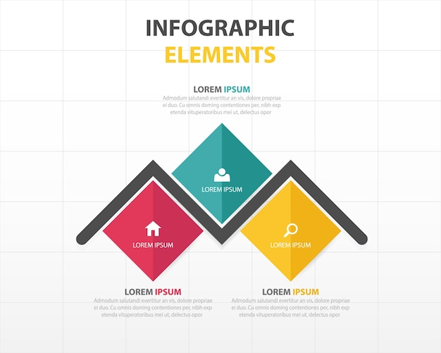 Infografía con formas rectas