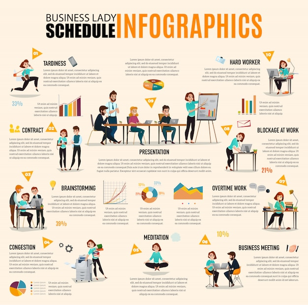 Infografía de gestión del tiempo