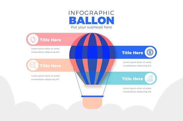 Infografía de globo