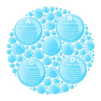 Infografía de gotas de agua.