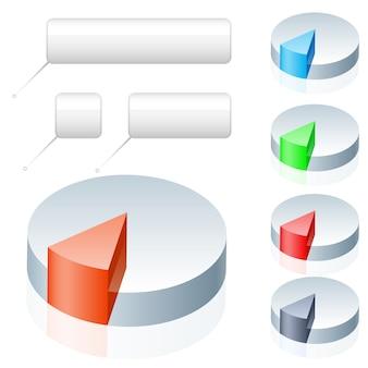 Infografía de gráfico circular vacía