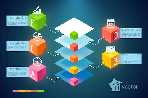 Infografía de gráfico de negocios