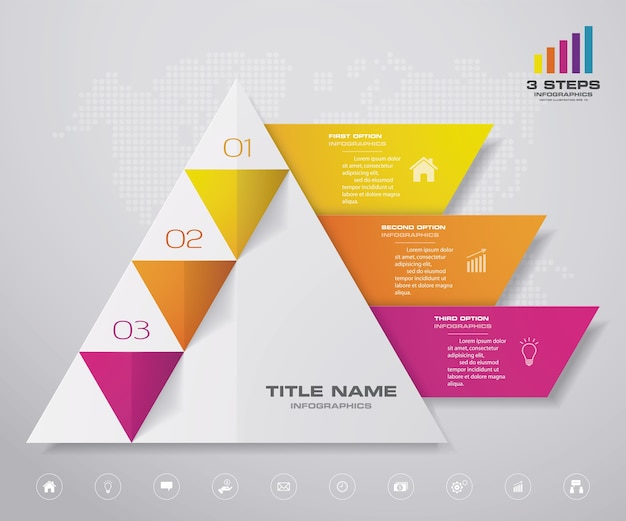 Infografía de gráfico piramidal