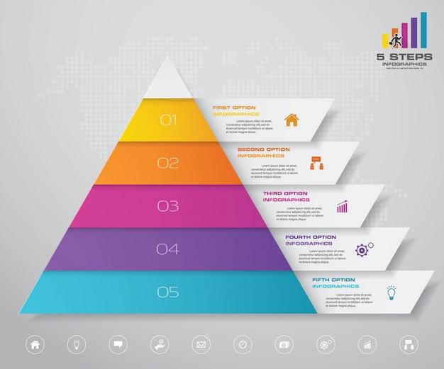 Infografía de gráfico de pirámide