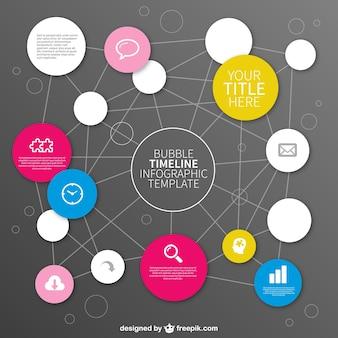 Infografía gratis con forma de burbujas