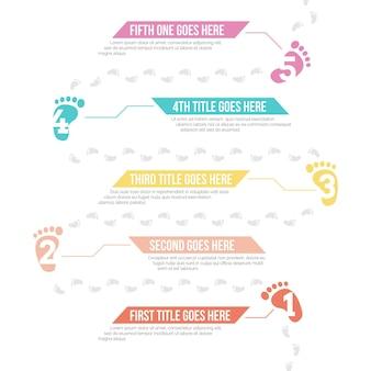 Infografía de huella plana