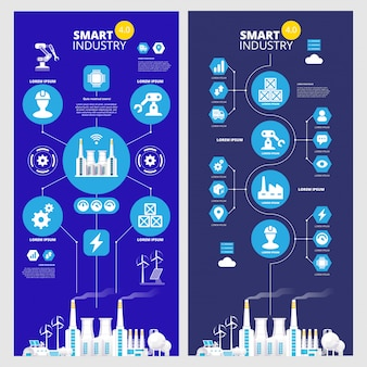 Infografía industrial ilustración de la industria 4.0