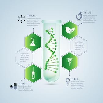 Infografía de investigación biológica