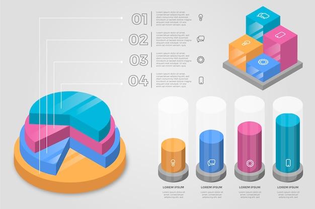 Infografía isométrica empresarial
