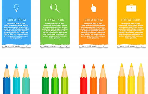 Infografía de lápiz de educación