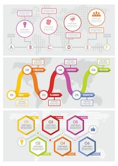 Infografía de línea de tiempo de flujo de trabajo