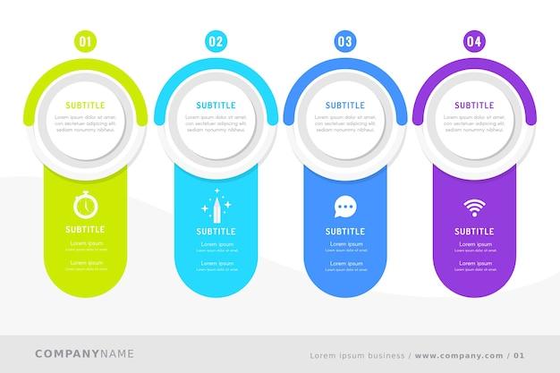 Infografía de línea de tiempo con gráficos