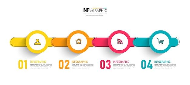Infografía de línea de tiempo para plantilla de presentación.
