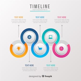 Infografía de linea de tiempo