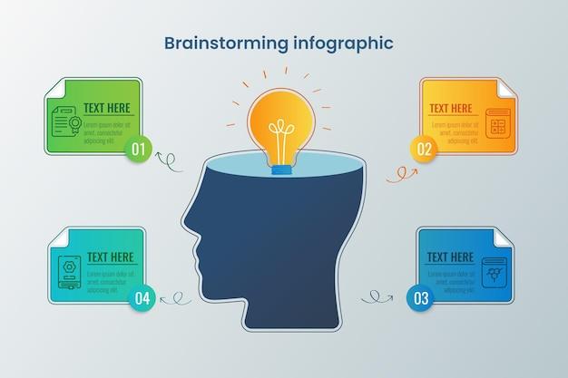 Infografía de lluvia de ideas dibujada a mano
