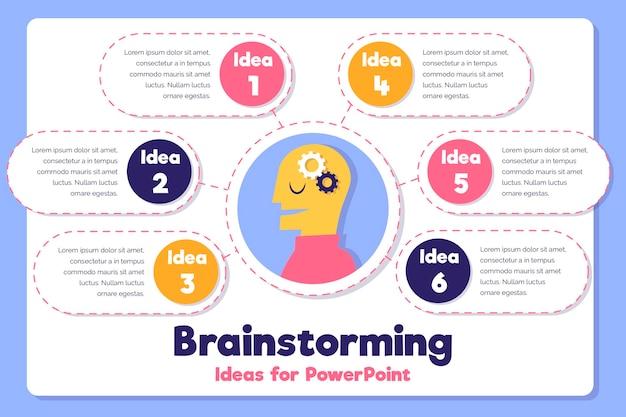 Infografía de lluvia de ideas de diseño dibujado a mano
