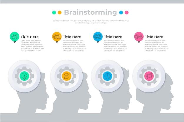 Infografía de lluvia de ideas