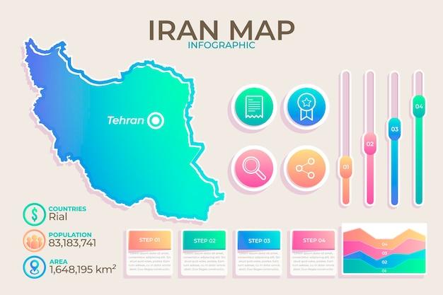 Infografía del mapa de irán