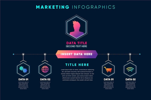 Infografía de marketing degradado