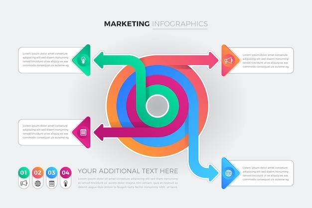 Infografía de marketing de gradiente creativo