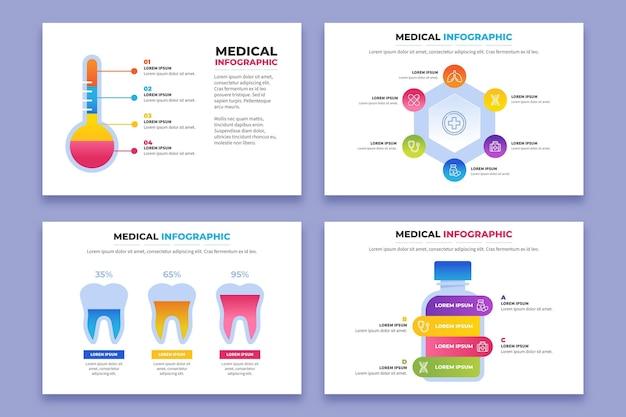 Infografía médica degradada