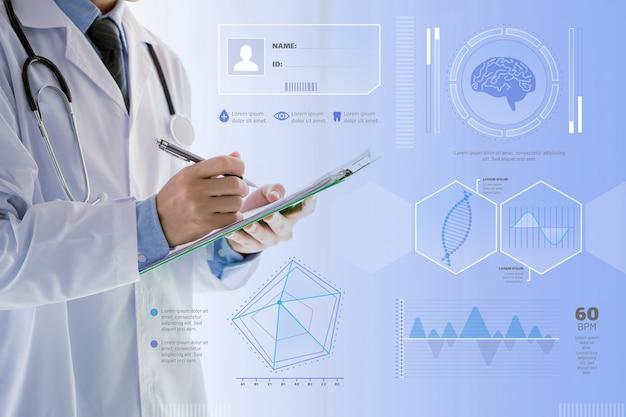Infografía médica con foto