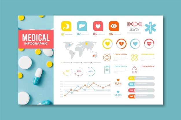 Infografía médica moderna con foto