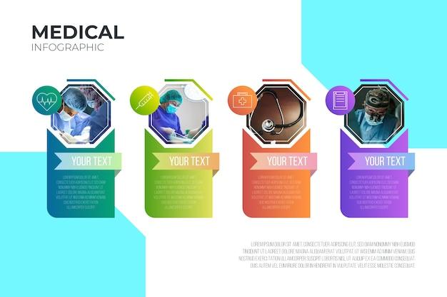 Infografía médica con plantilla de imagen
