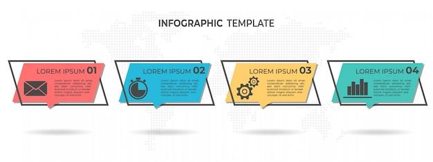 Infografía moderna 4 opciones.