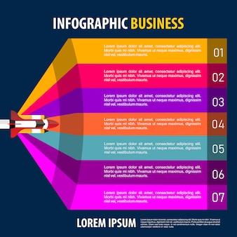 Infografía moderna con espacio