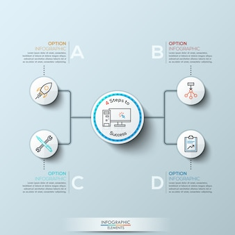 Infografía moderna con cuatro opciones.