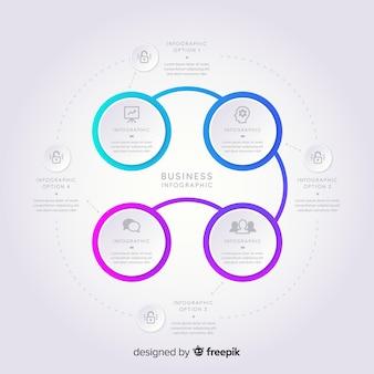 Infografía moderna en estilo degradado