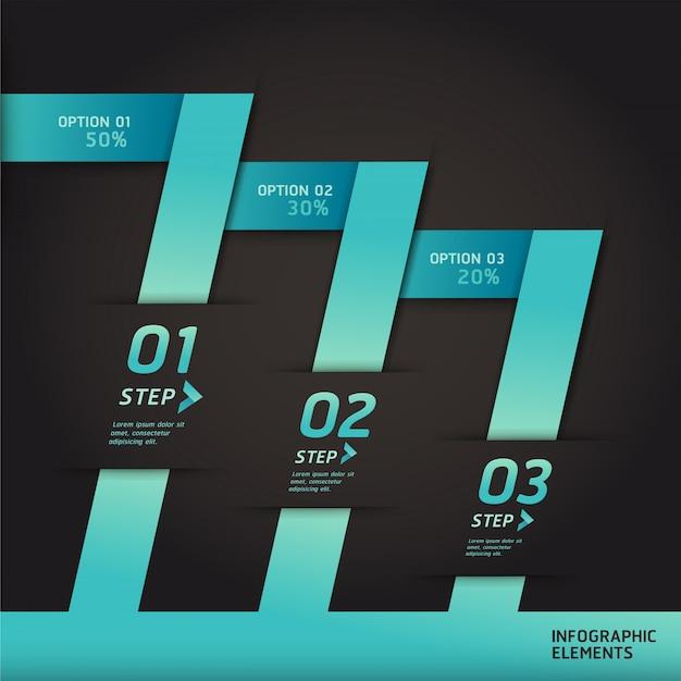 Infografía moderna estilo origami intensificar las opciones. diseño de flujo de trabajo, diagrama, opciones numéricas, diseño web, infografías.