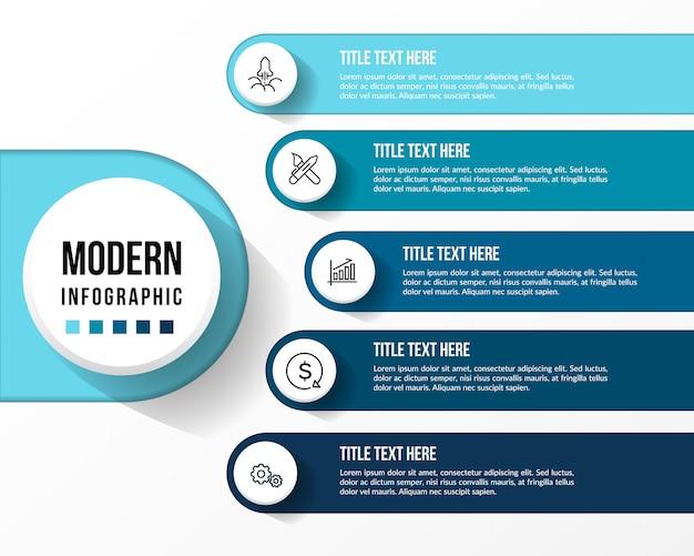 Infografía moderna con mesa 3d.