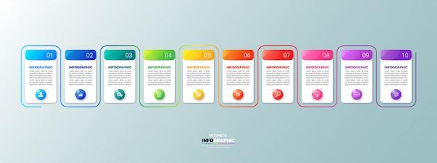 Infografía moderna de negocios 10 pasos