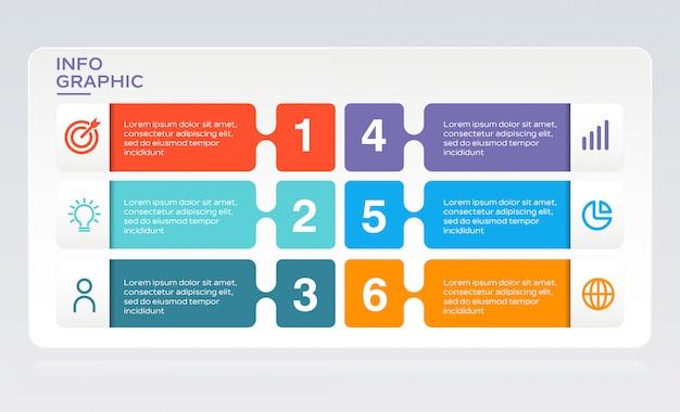 Infografía moderna de negocios