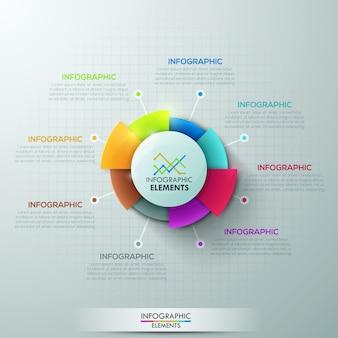 Infografía moderna opciones banner con gráfico circular