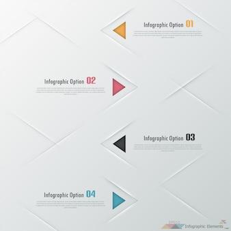 Infografía moderna opciones banner con triángulos