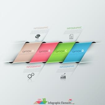 Infografía moderna opciones banner