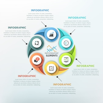 Infografía moderna plantilla de ciclo