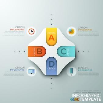 Infografía moderna plantilla de elección de papel